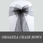 organza chair bows