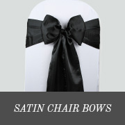 satin chair bows